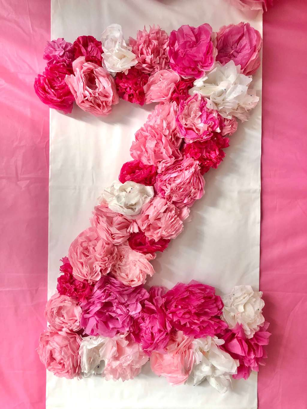 a big letter Z written with flowers
